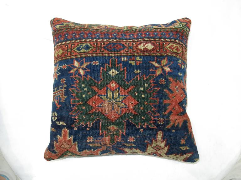 Pair of Caucasian Rug Pillows In Excellent Condition For Sale In New York, NY