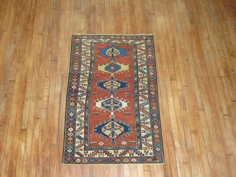 Heriz Serapi Antique Shirvan Rug For Sale