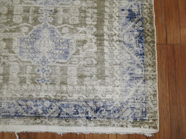 Perfectly worn gallery size Turkish rug.