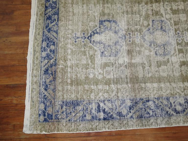Hand-Knotted Shabby Chic Turkish Kula Rug For Sale
