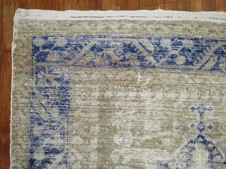 Shabby Chic Turkish Kula Rug In Good Condition For Sale In New York, NY