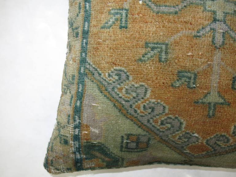Oushak Anatolian Rug Pillow For Sale