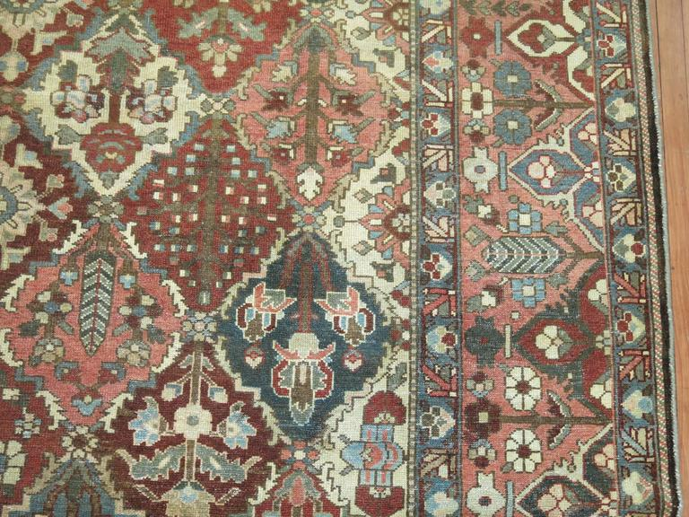 Square Persian Bakhtiari Rug For Sale At 1stdibs