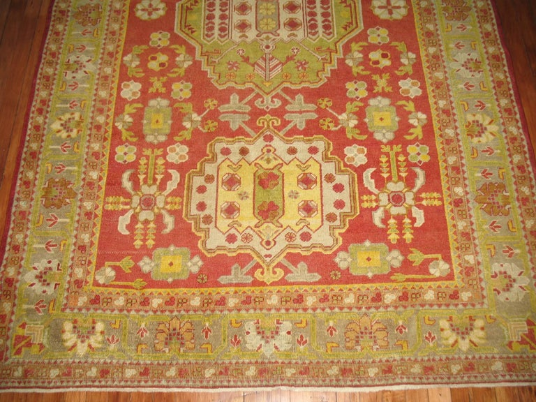 Antique colorful khotan rug for sale at 1stdibs for Colorful rugs for sale