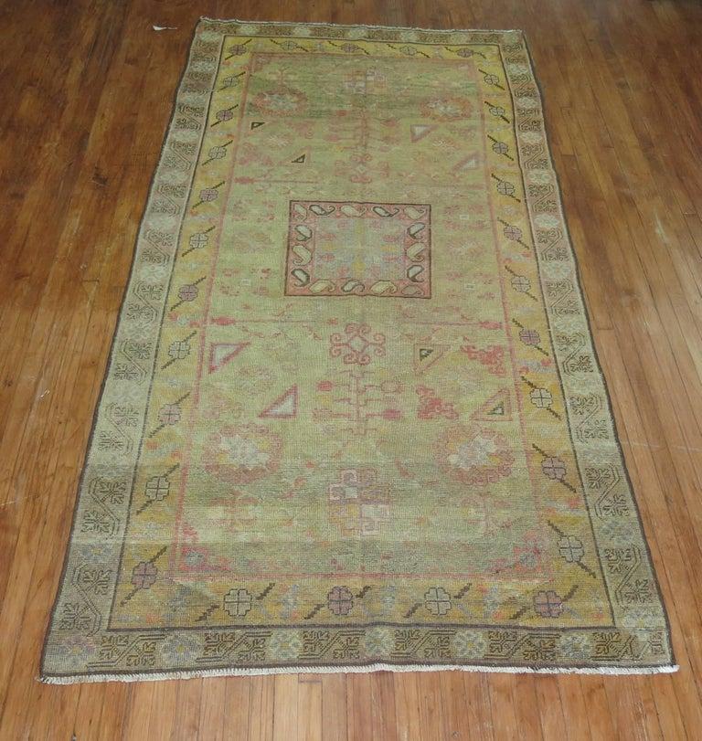 Antique Green Khotan Rug For Sale At 1stdibs