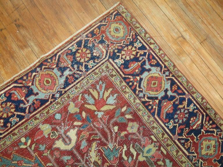 Shabby Chic Antique Persian Heriz Rug 3