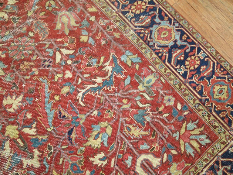 Shabby Chic Antique Persian Heriz Rug 6