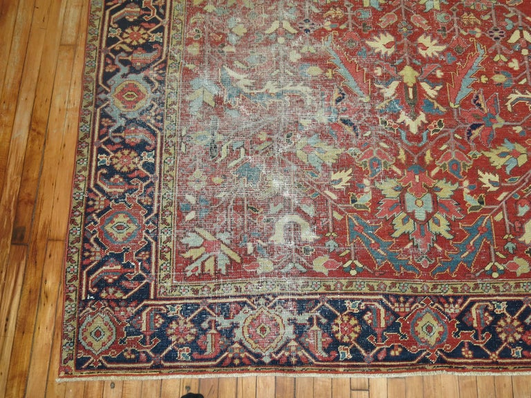 Shabby Chic Antique Persian Heriz Rug 7