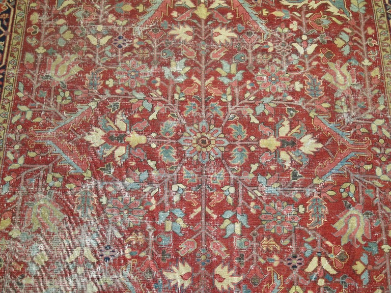 Shabby Chic Antique Persian Heriz Rug 10