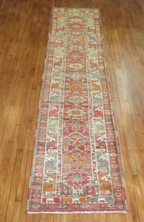 One of a kind colorful Turkish Anatolian runner.