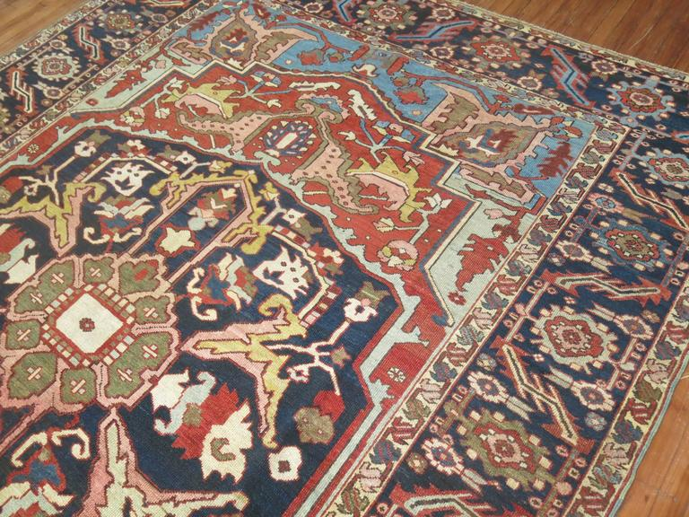 Antique Persian Heriz Oriental Rug For Sale 1