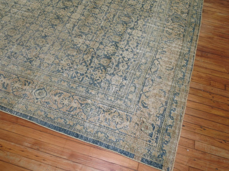 Tabriz Shabby Chic Persian Malayer Rug For Sale