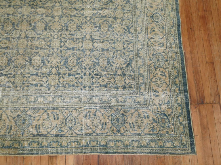 Hand-Knotted Shabby Chic Persian Malayer Rug For Sale
