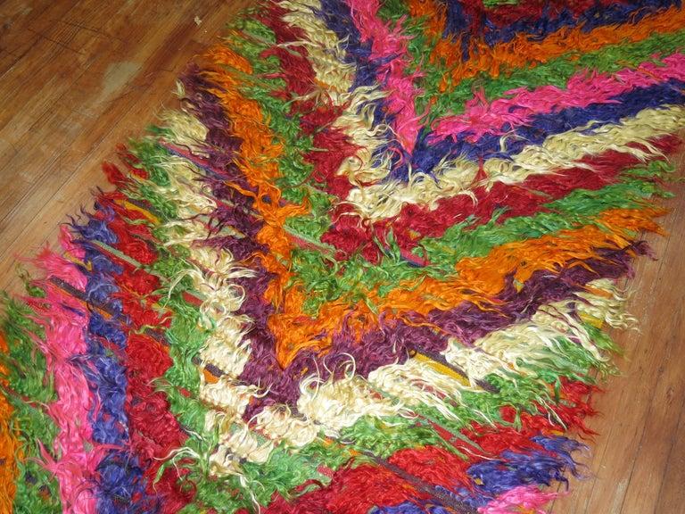 Wool Turkish Tulu Shag Runner For Sale