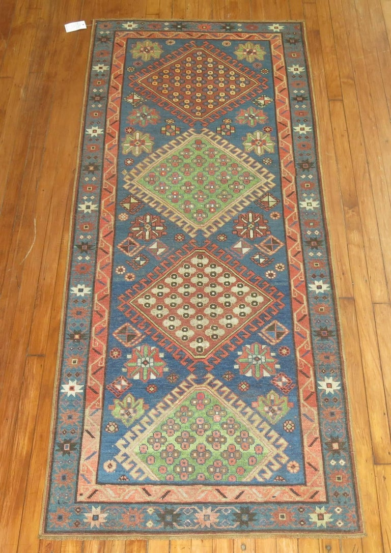 Antique Kazak Runner 3