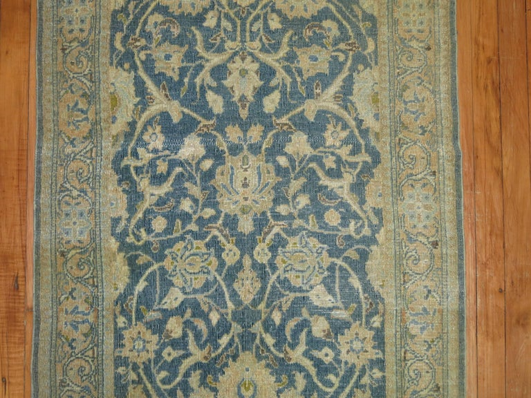 Hand-Woven Vintage Persian Kashan Runner For Sale