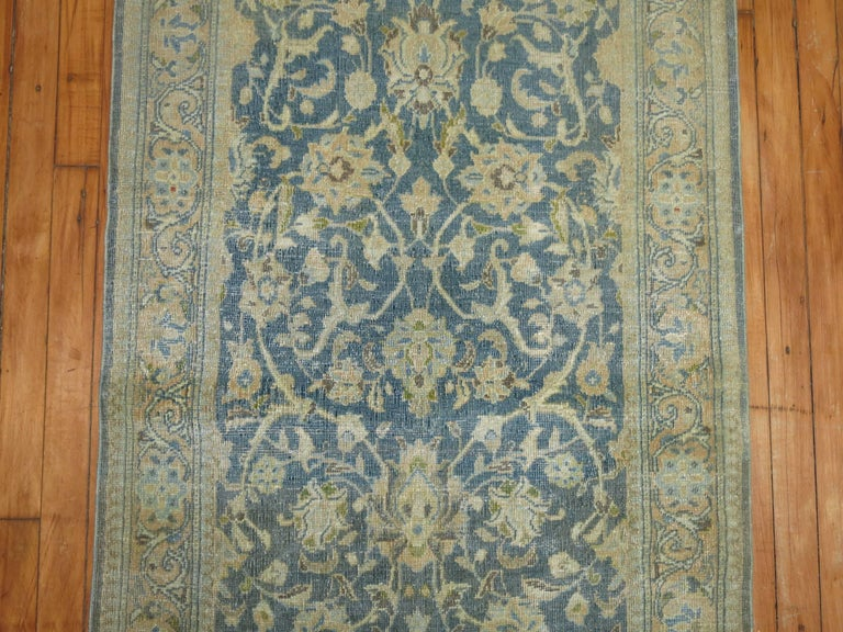 Vintage Persian Kashan Runner In Excellent Condition For Sale In New York, NY