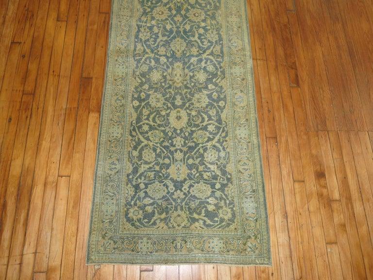 Wool Vintage Persian Kashan Runner For Sale