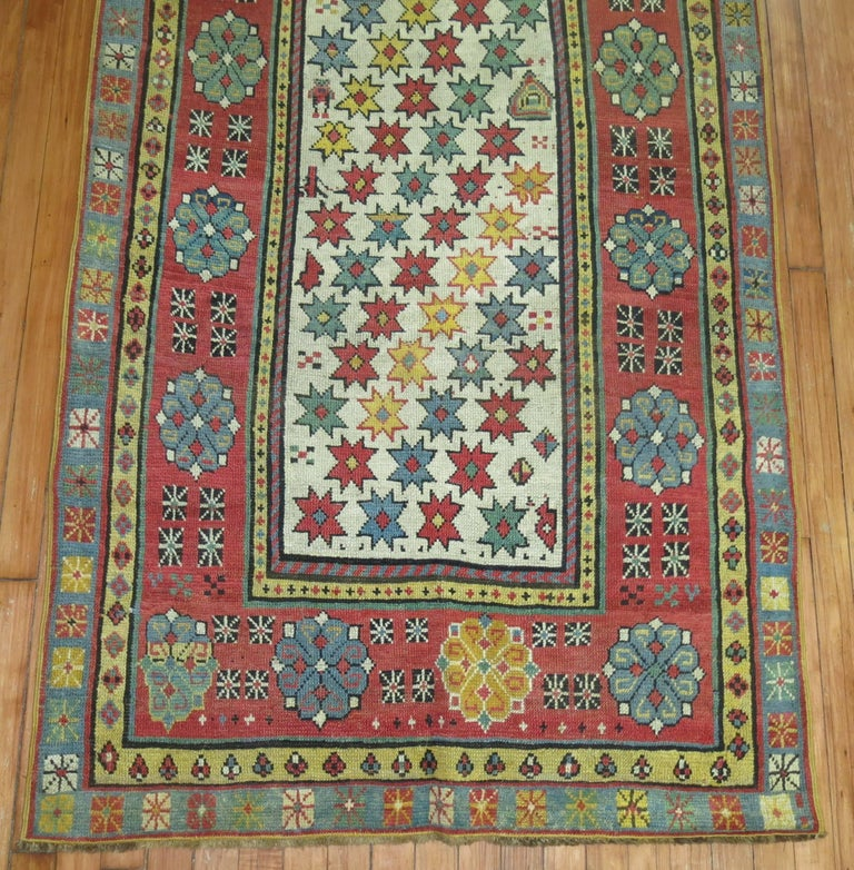 Kazak Antique Caucasian Talish Runner For Sale