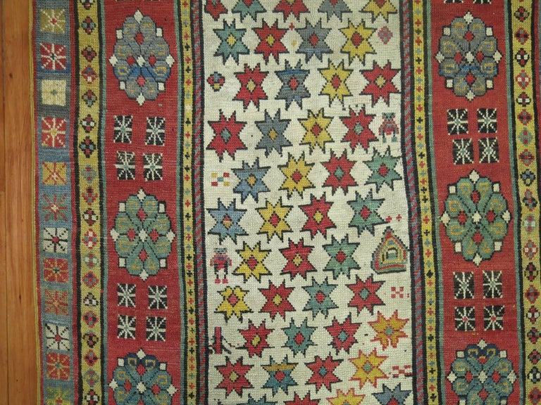 Hand-Woven Antique Caucasian Talish Runner For Sale