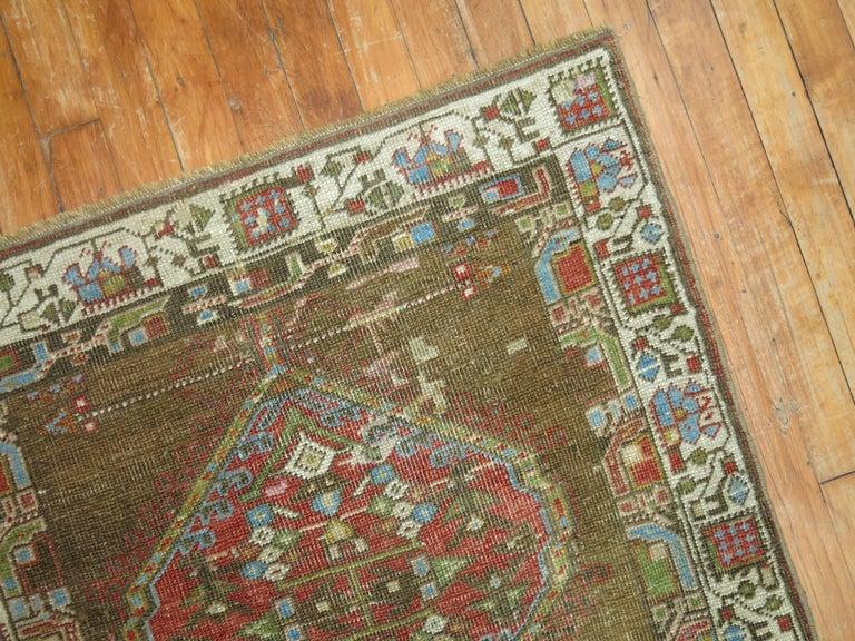 Hand-Woven Persian Serab Runner For Sale
