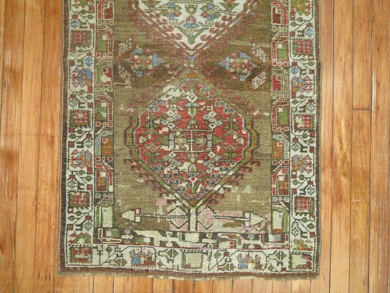 Wool Persian Serab Runner For Sale