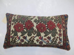 Persian Floral Antique Rug Bolster Pillow
