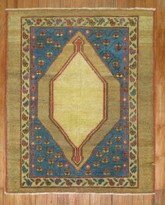 Antique Persian Bakshaish Throw SIze Carpet