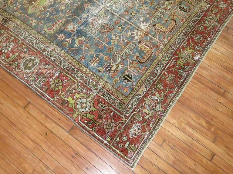 Tudor Shabby Chic Persian Heriz Rug For Sale