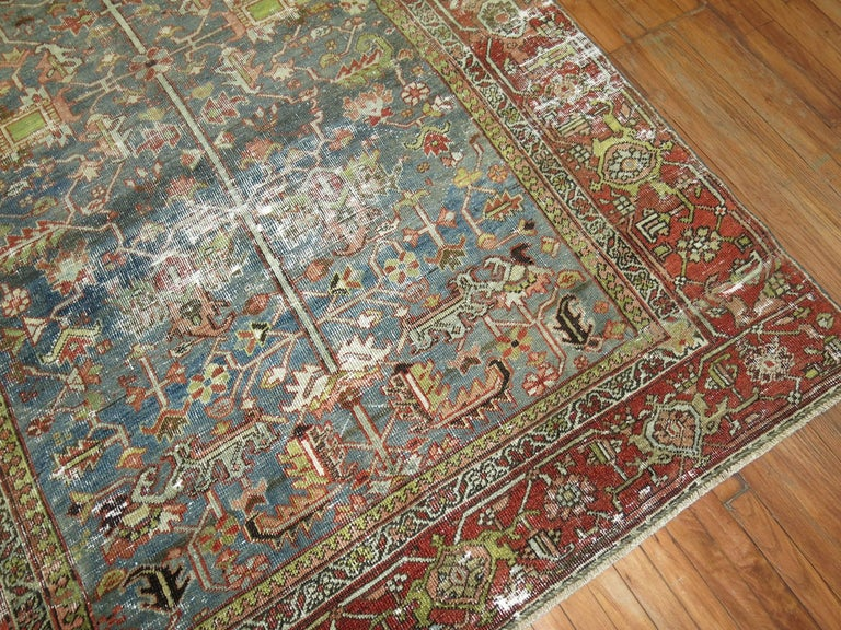 Shabby Chic Persian Heriz Rug For Sale 1