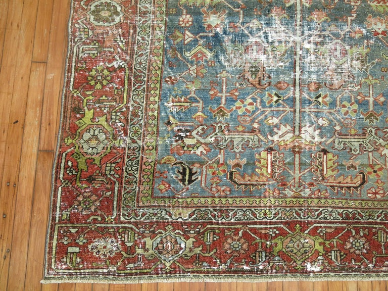 Shabby Chic Persian Heriz Rug For Sale 3