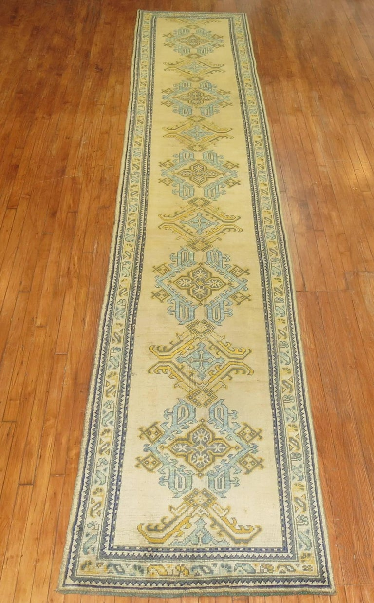 Antique Turkish Oushak Runner For Sale At 1stdibs