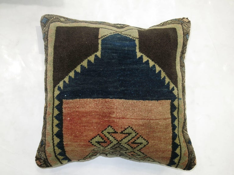 Oushak Complementary Set of 20th Century Turkish Rug Pillows For Sale