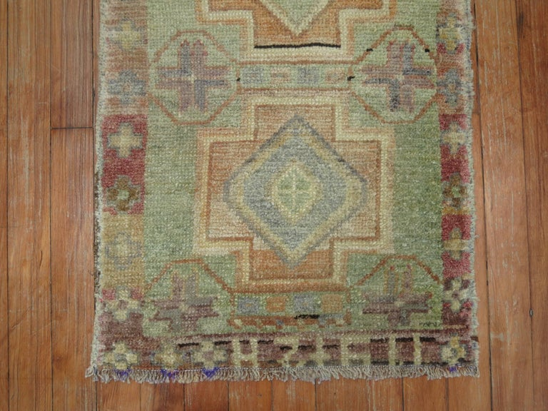 A vintage Turkish Anatolian small rug.
