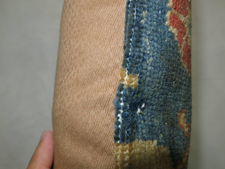 Pillow made from Indian Agra rug. Poly Fill insert and zipper closure