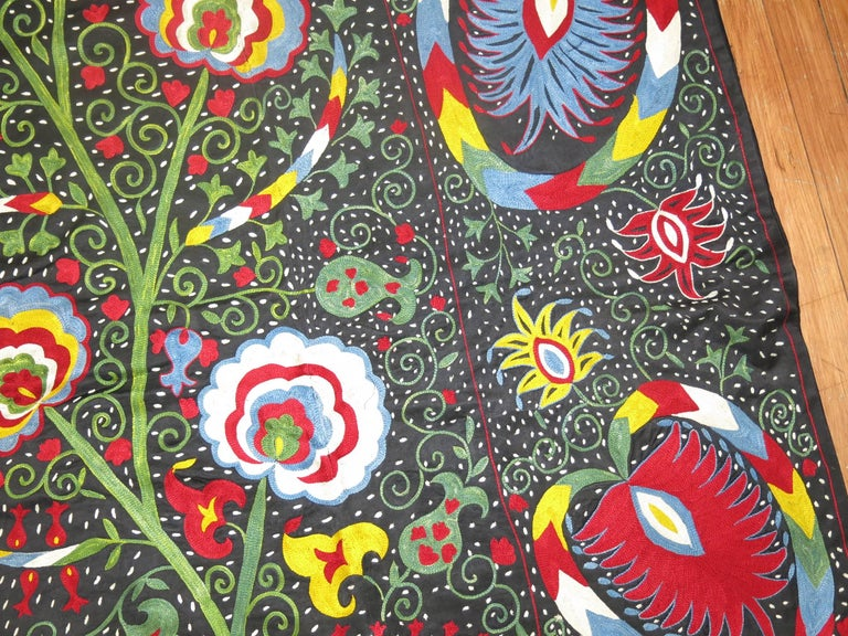 20th Century Beautiful Colorful Vintage Inspired Suzani Embroidery For Sale