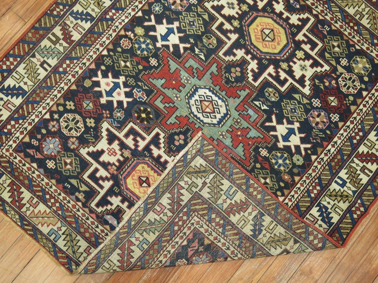 Wool Caucasian Shirvan Square Rug For Sale