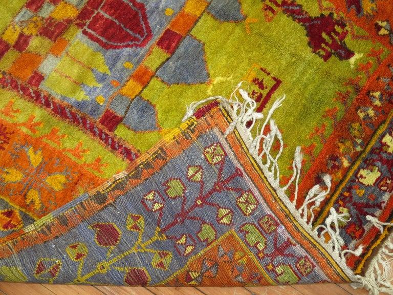 Futurist Vintage Turkish Eclectic Anatolian Rug For Sale