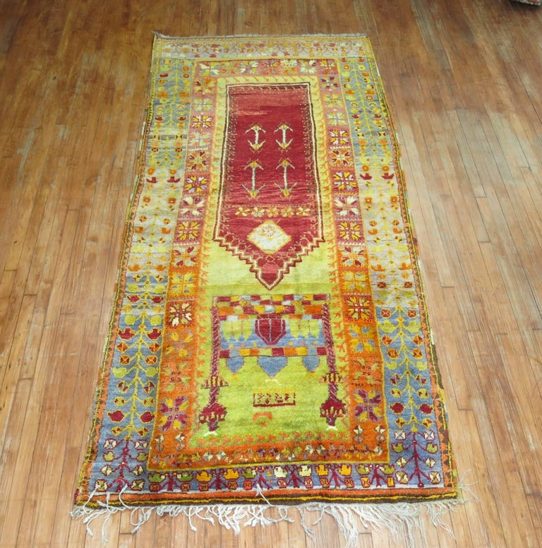 Hand-Woven Vintage Turkish Eclectic Anatolian Rug For Sale