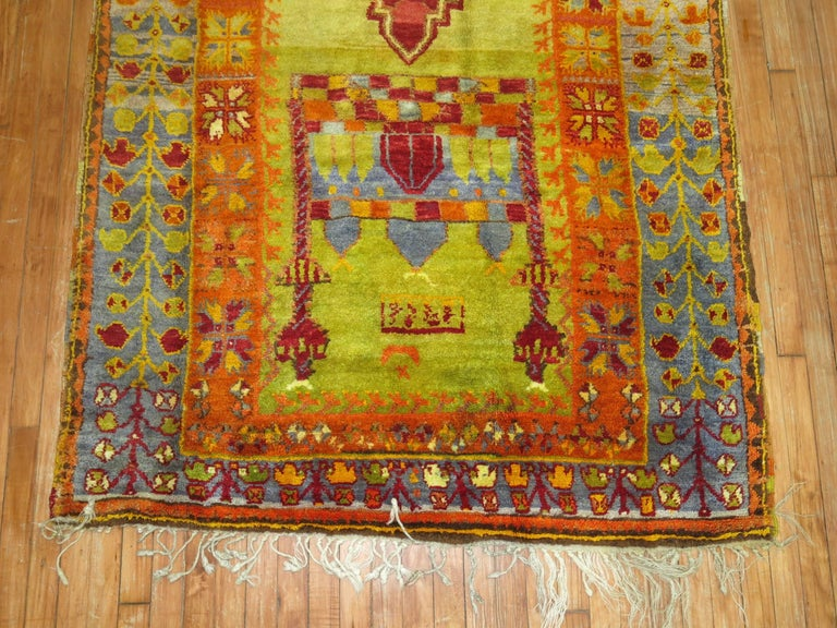 Vintage Turkish Eclectic Anatolian Rug In Excellent Condition For Sale In New York, NY