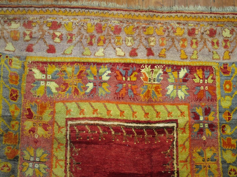 Wool Vintage Turkish Eclectic Anatolian Rug For Sale