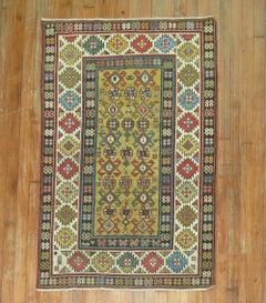 Yellow Caucasian Antique Shirvan Rug