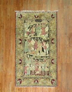 Judaical Persian Kerman Rug, Story of Joseph