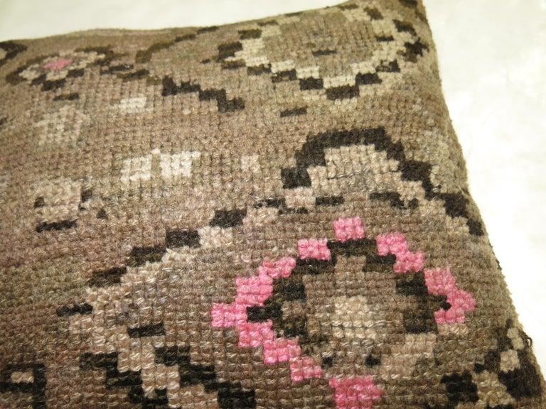 Futurist Turkish Kars Rug Pillow For Sale