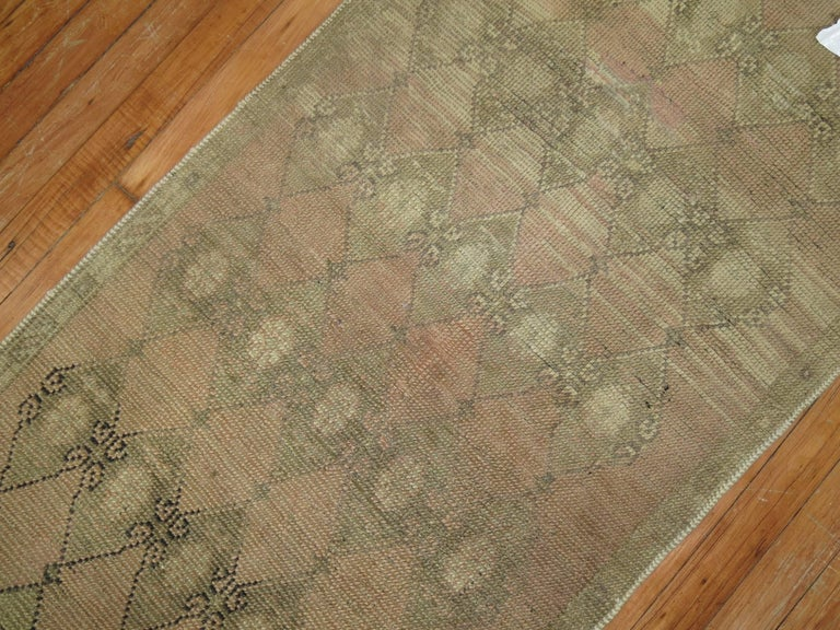Turkish Anatolian Thin Narrow Runner In Excellent Condition In New York, NY