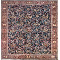 Oversize Persian Rug from Mahal District in Navy Blue