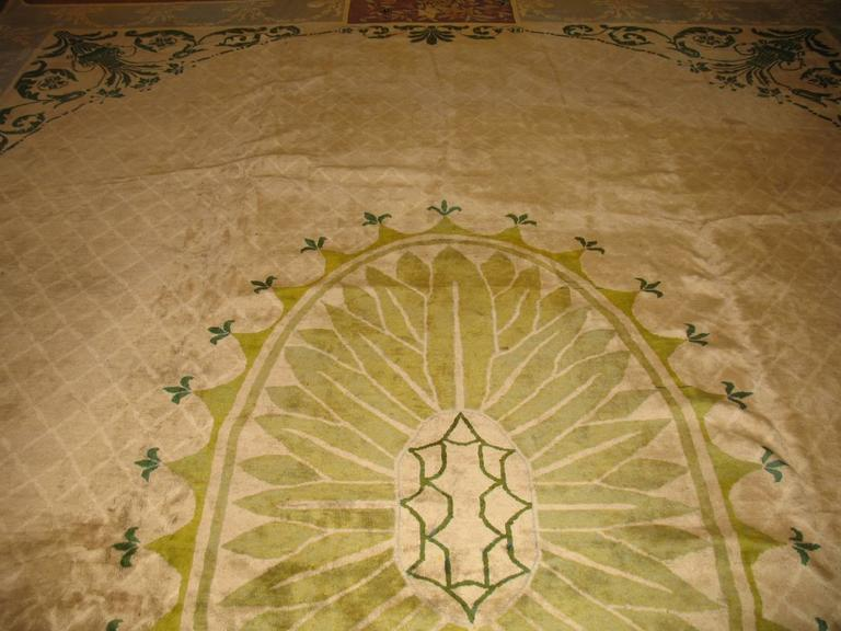 Chinese Art Deco Rug Influenced By 18th Century European