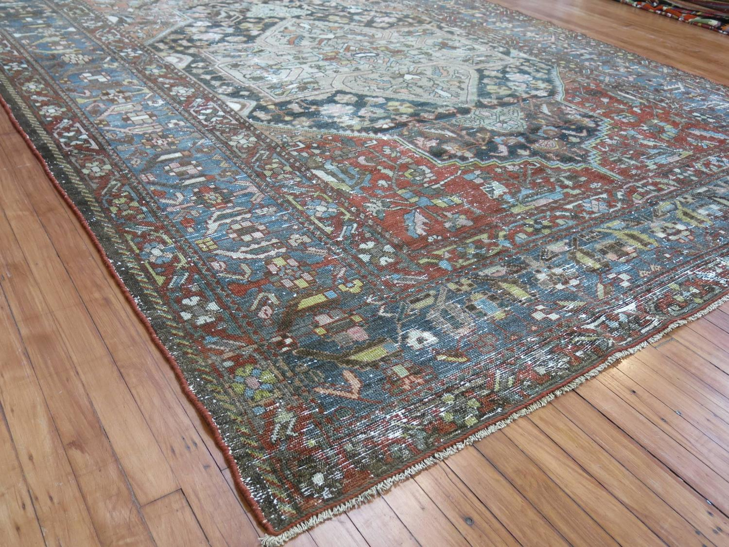 Rustic Persian Bakhtiari Rug At 1stdibs