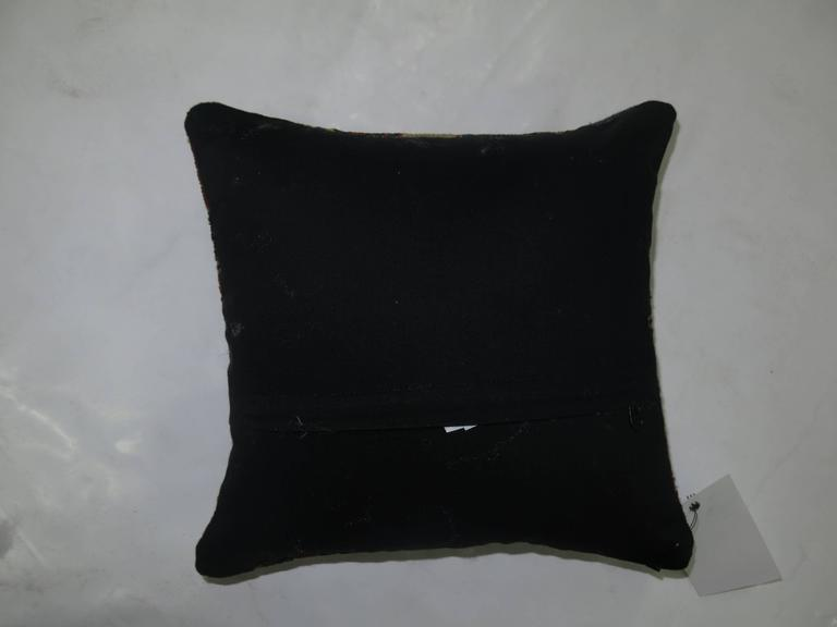 Pillow made from a 19th century Soumak with zipper closure included.