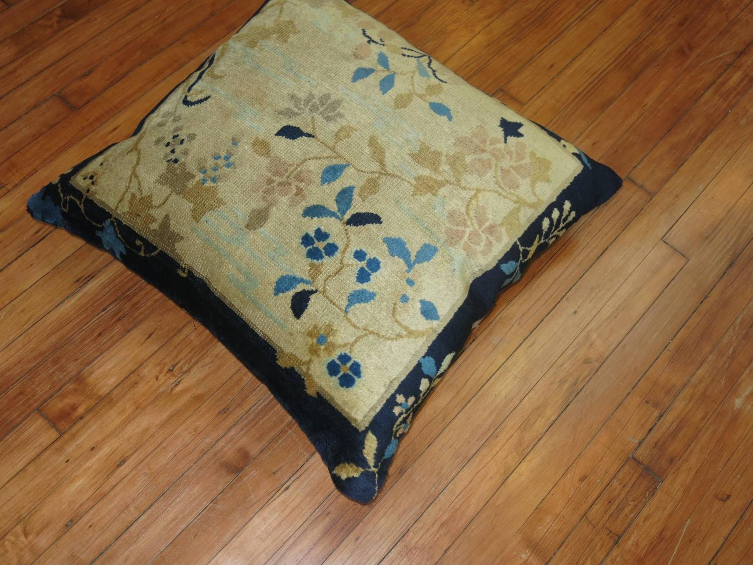 Chinese Peking Floor Pillow Late 19th Century For Sale At